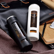 New BPA Free Clean easy glass drink bottle for car