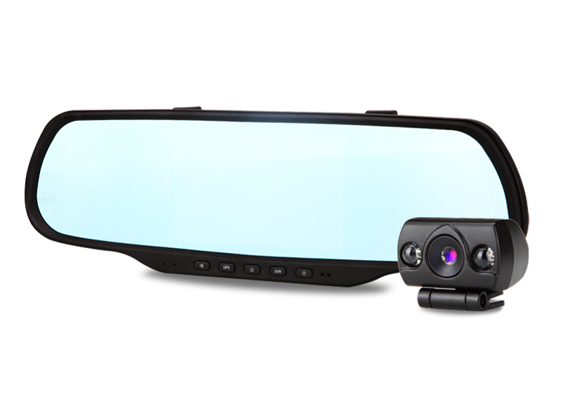 Patented Rearview Mirror Navigation! Support Navigation,Front & Back Car DVR,FM,WIFI,Bluetooth,Android OS,seven in one!