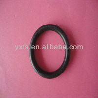 POM plastic black round ring buckles