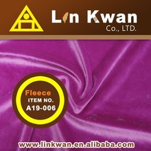 Taiwan LK A19-006 Velour for garment anti pilling polar fleece fabric knitted fabric