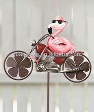 Factory Price Animal Metal Bike Spinner Garden Decoration
