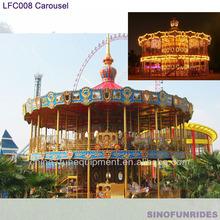 Dos- capa musement parque carrusel de caballos para la venta/merry go round carrusel para la venta