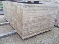 sliver travetine slab marble