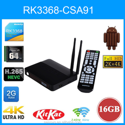 Octa Core RK3368 Kodi And 4K Supported Wifi AP6335 Octa Core Android TV Box 5.0