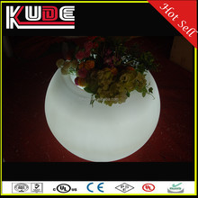 new design and idea creation led round glow led flower pot for outdoor