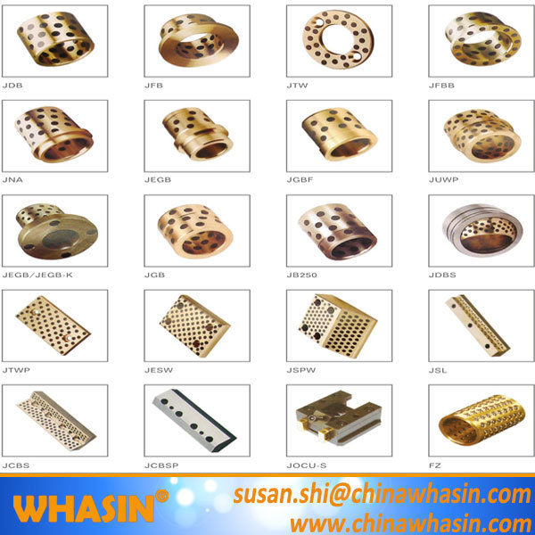 Lubricating Bearing Pads Thrust Washer Flanged Sleeve Bush Cast Bronze Bearing Graphite Bronze Bushing.jpg
