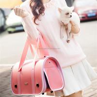 Wholesale PU Pink Brown Black Pet Dog Carrier