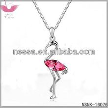 E93091 Austrian crystal necklace - a promise portrait of (white)