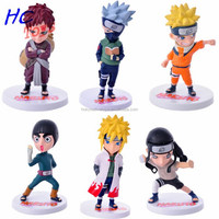 HOT Anime Naruto Uzumaki with Kyubi 9cm Cute PVC Doll Action Figure Collectible Toy