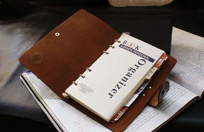 Business Notebooks Leather Leather Organizer Notebook
