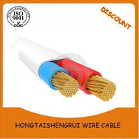 PVC insulated bared copper house wiring electrical cable/2.5mm electrical cable price/electrical cable types