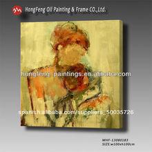 Moderno pinturas al óleo abstracta retrato de arte para la decoración de la pared mhf-13080183