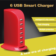 6 Ports USB phone charger/6 USB smart charger/USB charger AK48