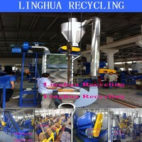wind label separator machine for waste pet bottles