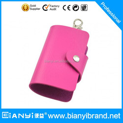 Simple design PU leather keychain coin purse/wallet