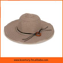 Mode coloré rayé paille plage soleil Chapeau Panama pliable femme été neuf