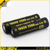 Rechargeable 18650 aa lithium battery 2500mah high capacity for flashlight/e-cig/RC toys/Remote control
