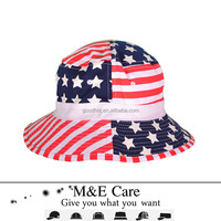 Wholesale cool mens beer funny tie dyed american flag bucket hat