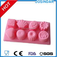 fondant baking equipment Wholesale Ice lattice Eco-friendly hot sale bakeware heart silicone cake mould