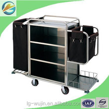 Hotel linen housekeeping cleaning trolley/cart