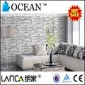 decorativo moderno diseño 3d papel pintado de ladrillo para el hogar