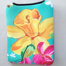 Big flower design Neoprene Laptop sleeve,laptop bag tablet bag