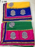 Magenta & Green Wholesale Indian sari/saree with blouse stitching at Cheap prices