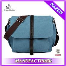 Ocean blue plain formal shoulder bag female best design canvas bags