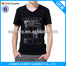 Custom Made V Neck Tshirts Muscle Fitting For Your Own Design Good Quality