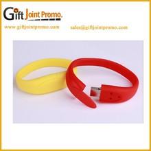 Promotional Silicon Wristband USB Flash Drive, Bracelet USB Memory Stick for 2G/4G/8G