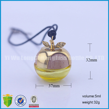 ball shaped car accessories pendant manufacturer glass perfume bottle