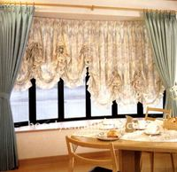 curtain vanlance, polyester window curtain cloth,adjustable window curtain