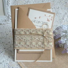 vintage style lace decoration wedding invitation kit