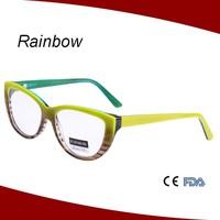Fancy color cat eyes women style acetate optical frames eyewear spectacle frames A14524