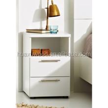 Huaxu wood bedroom furniture range white high gloss night stand