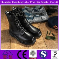 Good Quality Black Genuine Leather Boots Skin Lined