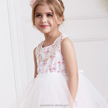 Lovely white infant dresses 2015 baby dress floral bow organza and satin short baby girl evening dresses