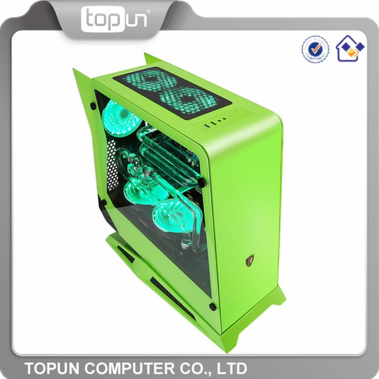 Fancy oem di marca trasparenti casi di computer/wholesale raffreddato case del computer di massa