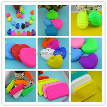 Promotion Gift Lovely Silicone Jelly Purse Silicone Rubber Change Purse Pocket Wallets Men Pocket Change Purse