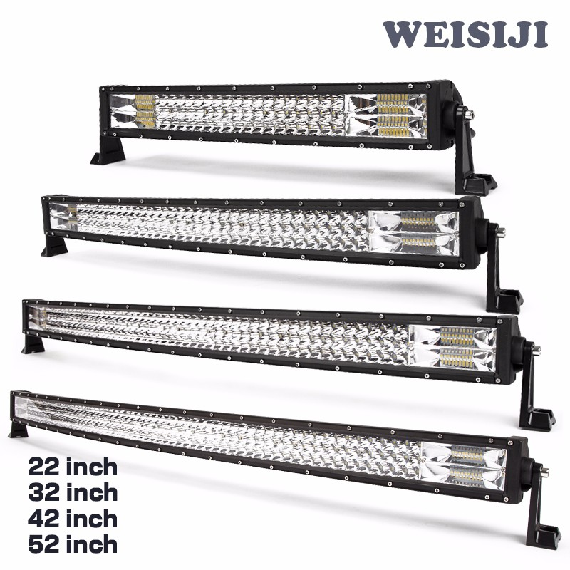 New design 22 32 42 50 52 led combo light baroff road 4x4 suv 3 row curved led lightbarg aloadofball Gallery