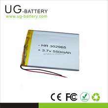 High power Lithium 3.7V 550mah Li-Polymer Battery 3.7v 302965