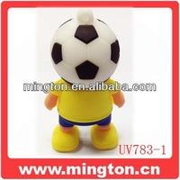 Yellow Football people usb memory stick world cup