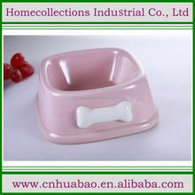 Hot selling fashion design ceramic novelty pet bowls with a cat model