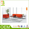 laranja açoinoxidável do escritório conjunto sofá moderno