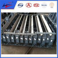 New! conveyor return u-shaped steel idler roller brackets with high quality and good price