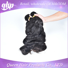 QHP new arrival no tangle no shed grade 6a sweet lady hair Brazilian hair