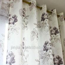 popular design printed window curtain for living room