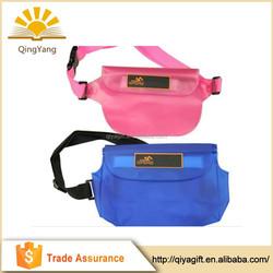 2015 high quality summer outdoor beach waterproof cell phone belt bag