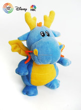 Flying blue dragon stuffed plush toy