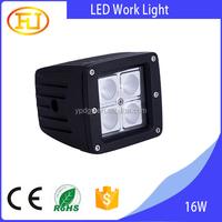 High brightness square 3inch 1360lm 9-30v 16w spot led work light for car,truck,ATV,SUV,off road